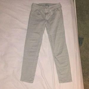 Gray American eagle skinny jeans